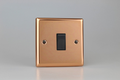 Varilight Polished Copper 1-Gang 10A 1- or 2-Way Rocker Switch - XY1B.CU